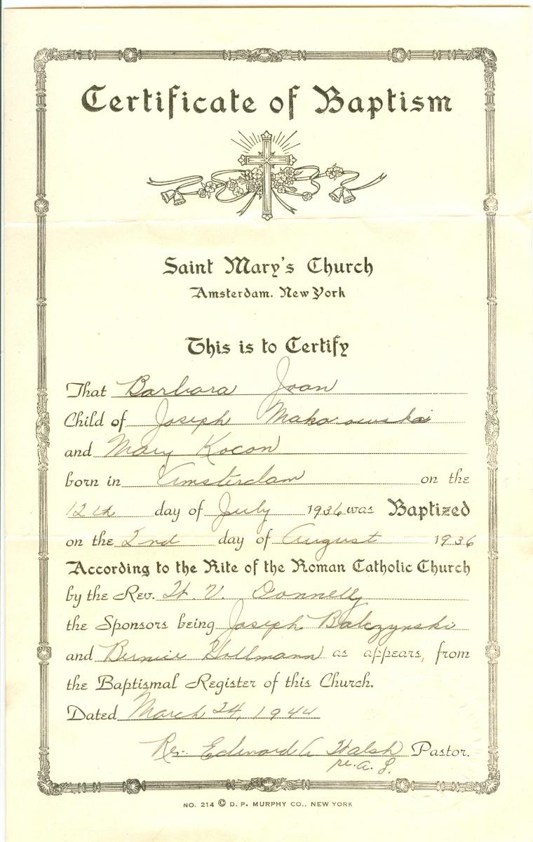 Halgal genealogy of halychynaeastern galicia married 8 aug 1959 in amsterdam new york to barbara joan mack makarowski aiddatafo Image collections