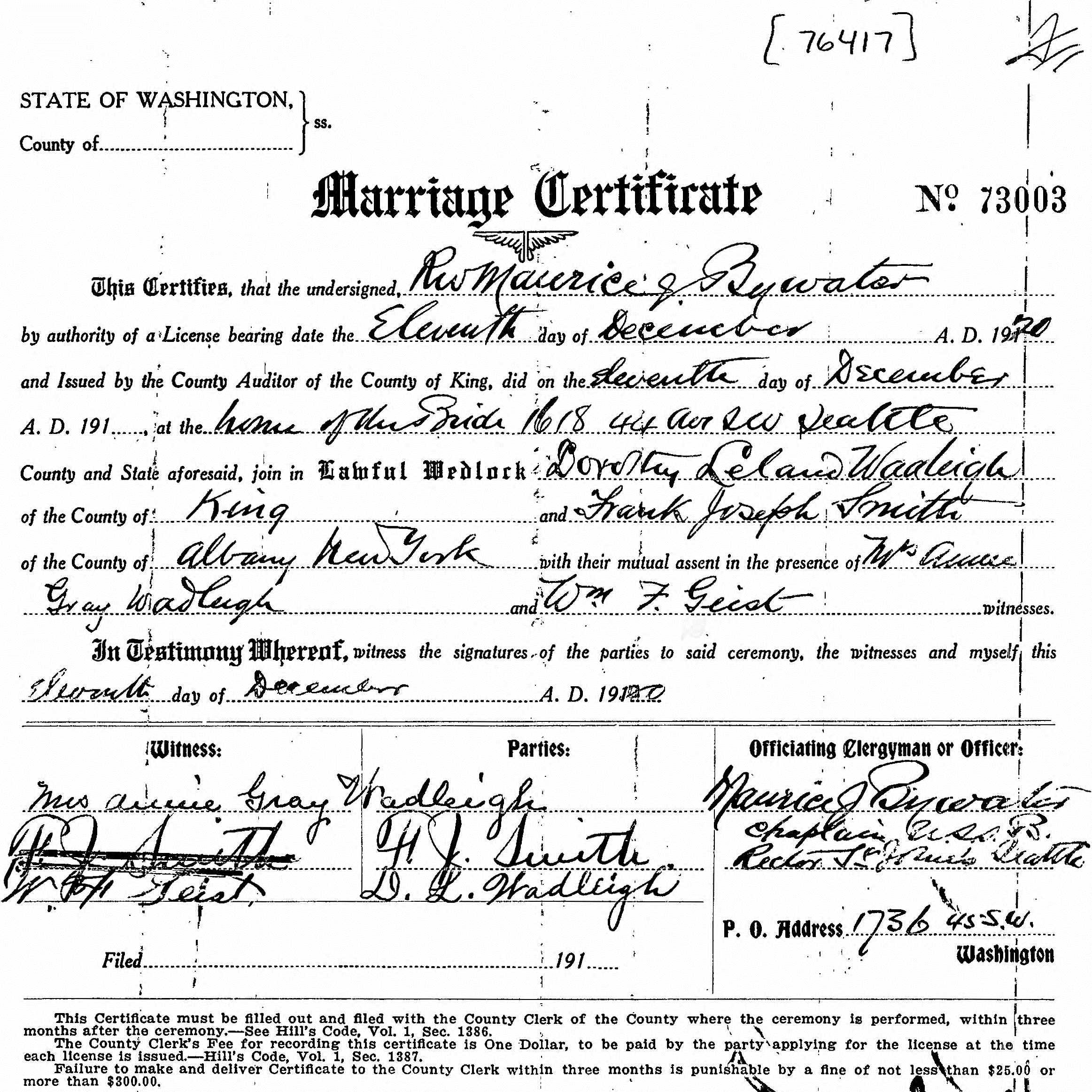 Halgal genealogy of halychynaeastern galicia married helen lenore calvin married in indiana and renewed vows on 7 jul 1972 in long beach ca marriage record aiddatafo Images